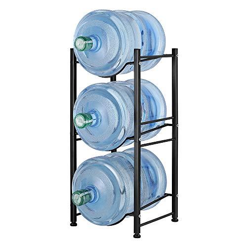 Wasser Kühler Krug Rack 3 Etagen für 5 Gallonen Wasserflaschen, abnehmbare Wasserflaschen-Aufbewahrungsregal Küche Büro schwarz