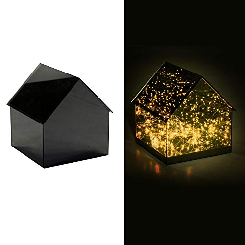 Lampada a LED da Tavolo in Vetro 30x29,5H31,5cm Adami Casetta