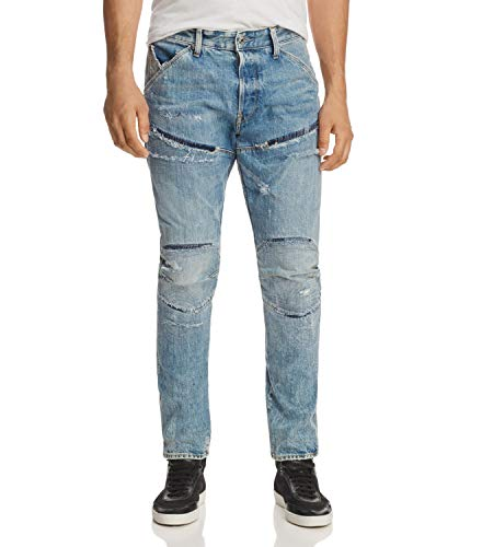 G-STAR RAW Herren 5620 Elwood 3D Tapered Jeans, Blau (lt Aged Home Restored 8595-8575), W31/L34