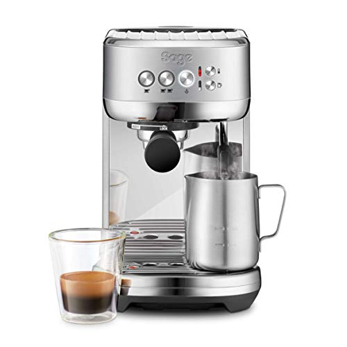 Sage Appliances SES500 the Bambino Plus, Espressomaschine, 1600 Watt, Gebürsteter Edelstahl