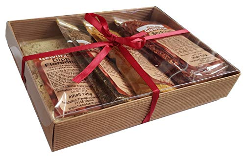 Gewürz Mischung Gewürze Set in Geschenkverpackung Dipp Kräuterbutter Bruschetta (Variante 1)