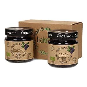 Bakoki® Mermelada Arándano orgánico sin azúcares añadidos con jugo de manzana (2 x 200g)