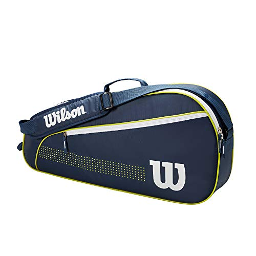 Wilson Junior 3 PK Mochila, Juventud Unisex, Navy/White/Lime Green (Multicolor), Talla Única