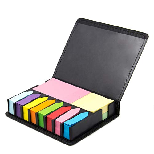 Ofidosel Kit Porta Notas Adhesivas Estuche de Notas de Curpiel. Organizador de Escritorio para Oficina, Escuela o Trabajo. Incluye...