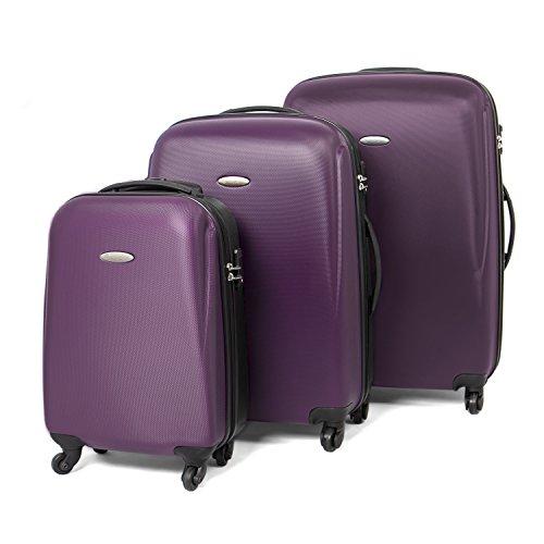 MasterGear Travel Line Set di valigie, 76 cm, 100 liters, Multicolore (Púrpura/Negro)