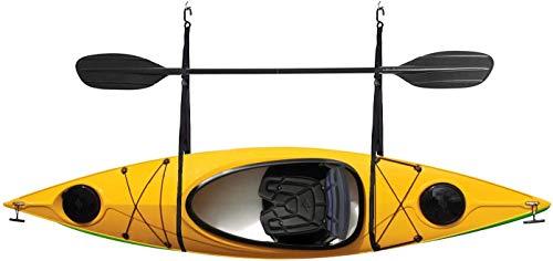 DrSportsUSA Single Kayak Wall Hanger Storage Strap Garage Canoe Hoists55 lb Capacity for Indoor/Outdoor Room Wall Strap Hanger Mounting