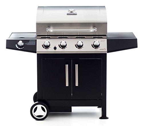 Sochef Golosone 4 Barbecue, Nero/Acciaio, 57X136X115 Cm