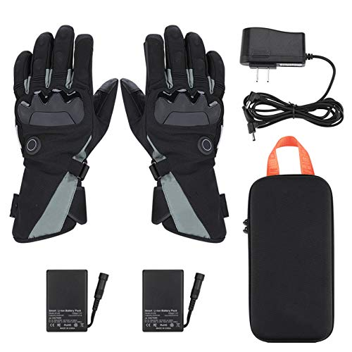 WeiX Guantes calefactables,Guantes Térmicos,3 ajustes de Temperatura,Impermeables Pantalla Táctil Recargable,para Hombre, Mejor elección de Regalo de Invierno