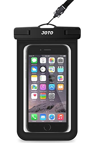 "JOTO Bolsa Estanca Móvil Universal, Funda Impermeable para iPhone 12 Mini/Pro/Pro MAX/11/XS/XR/8 Plus/7 Plus, Galaxy Note10+/S20 Ultra/S20+/S10e, Huawei hasta 6,9"" Diagonal -Negro"