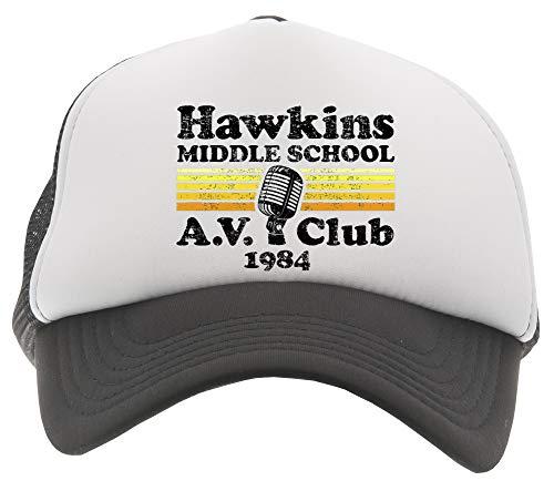 Middle School A.V. Club Gorra De Béisbol Camionero Niños Negro Baseball Trucker Kids Cap Black