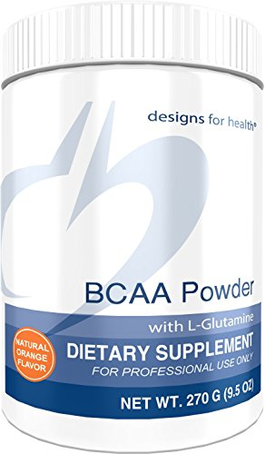 Designs for Health BCAA Powder with L-Glutamine - Branched Chain Amino Acids + L-Glutamine for Energy Support (30 Servings / 270g)