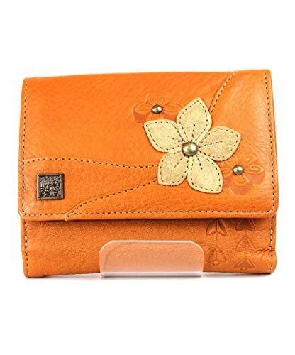 野村修平 花歌 80170 二つ折り財布 レディース財布 (キャメル)
