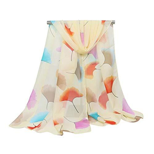 Udol Bufanda de Invierno cálido Bufandas de Seda de la Gasa de Las Mujeres Impresas Bufanda Playa Sol Chal Primavera y otoño All-Match Sun Playa Toalla de Playa 155 cm * 50 cm mantón j0308