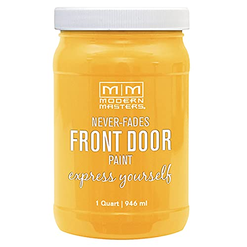 1 qt Modern Masters 275273 Happy Front Door Paint Water-Based Exterior Enamel...