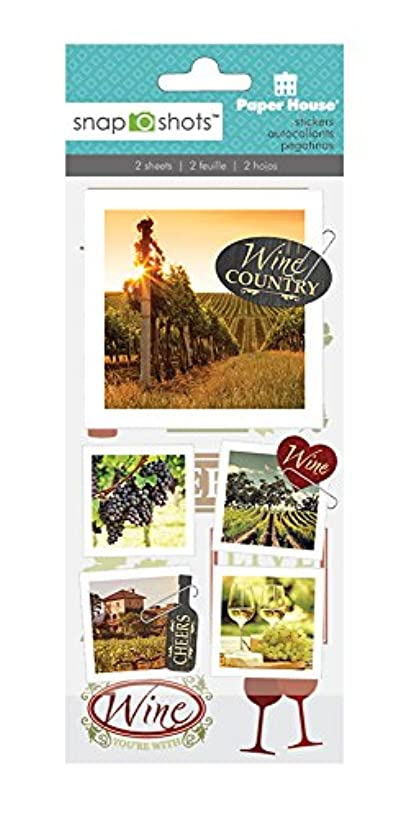 Paper House Productions STSS-2003E SnapShot Sticker, Wine Country (3-Pack)