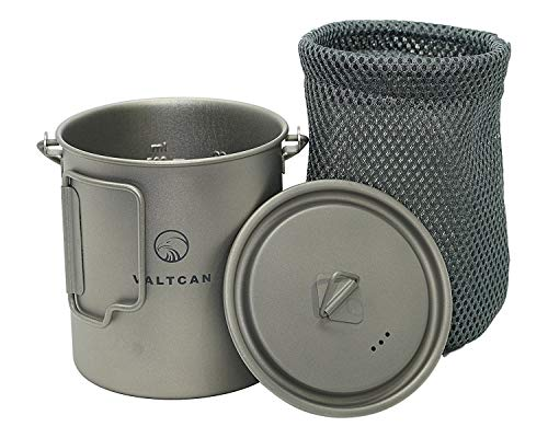 Valtcan 750ml Titanium Pot Mug Handle and Lid 25.4 oz