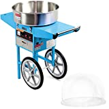 VIVO Blue Electric Commercial Cotton Candy Machine/Candy Floss Maker | Mobile Cart with Bubble...