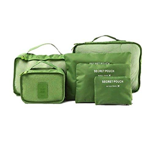 Siwetg 6 stuks waterdichte reiskleding opbergtassen organizer bagage tas verpakking