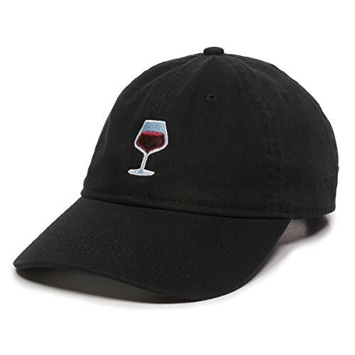"""Weinglas-Hut mit Aufschrift """"Dad"""", verstellbar, Polo-Stil, für Damen und Herren - Schwarz - MEDIUM"""