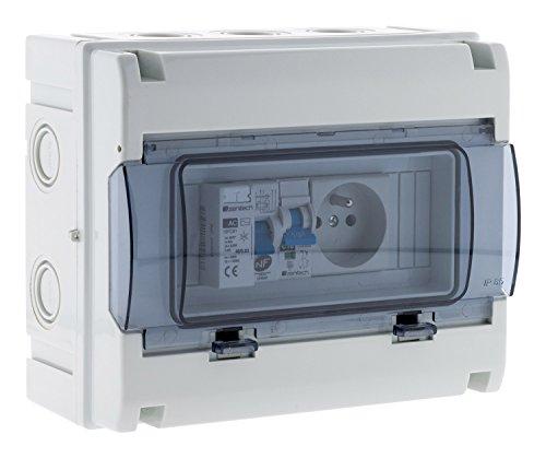 Coffret électrique étanche IP65 8 modules équipé livré avec accessoires