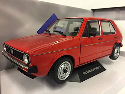 Solido S1800204 1:18 VW Golf L (1974), rot, Maßstab