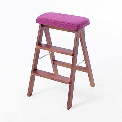 Home Decoration-G.TZ Chaise Pliante Rembourrée en Bois, Chaise en Bois Nucléaire (Chaises), Chaises De Bureau À Domicile - 65 * 42 * 46 Cm (Couleur Noyer)