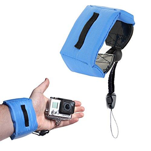 Unterwasser Armband Kamera, Handy, Smartphone, Action Cam universal einstellbar Float Funktion für GoPro Hero7, GoPro Fusion, Hero6, Hero5, Apeman Camera, Huawei Mate 20, Samsung Galaxy S9 Blau
