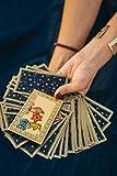 Tarot Journal Notebook: Daily Journal Log Book A Tarot Journal 3 Card Spread For Interpretation, Notes, Question And Draw In Blue Star Tarot Card Cover Design