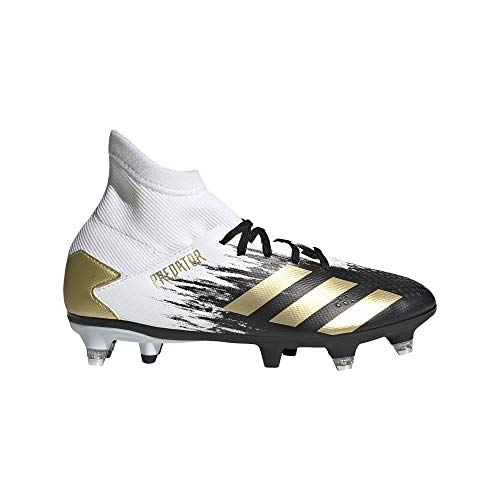 adidas Predator 20.3 SG J, Zapatillas de fútbol Unisex niños, FTWBLA/Dormet/NEGBÁS, 36.67 EU