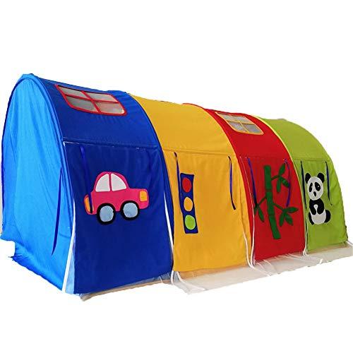 Spielzelt Kinderbettzelte, Tunnel Game House Playhouse Privatsphäre, Betthimmel Vorhang Schlafen for Kleinkinder Jungen & Mädchen - 180 cm × 100 cm × 93 cm (Color : Without mesh)