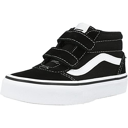 Vans Unisex Kinder Ward Mid V Sneaker, (Suede/Canvas) Black/White, 29 EU