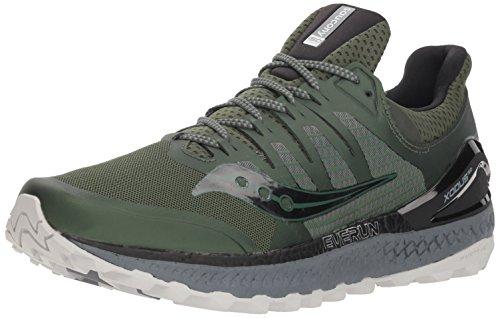 Saucony Men's Xodus ISO 3 Sneaker, Olive/Black, 7 M US