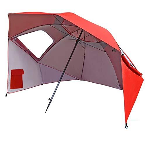 Parasol YGR De Plage Portable Cadre en Métal De Plage Panneaux Latéraux