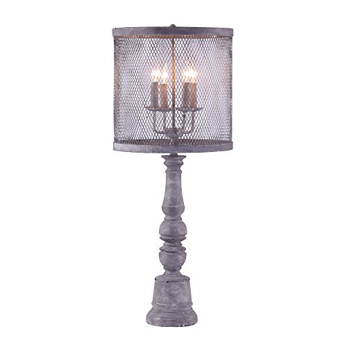 A Homestead Shoppe Arlington Table Lamp - Mesh Shade