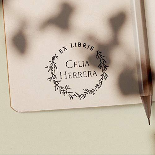 Sello Ex Libris Personalizado de Madera para Libros, 4 Diseños Disponibles, Sello...