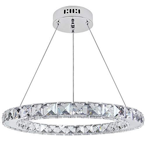 Modern Round Chandelier LED Ring Pendant Ceiling Light Cool White Dining Room Table Kitchen Island Bedroom Living Room M0170