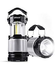 Exwell LEDランタン 高輝度500ルーメン LED懐中電灯 キャンプ 携帯型 cobランタン 電池式ランタン 防水 防災 登山 夜釣り ハイキング アウトドア適用 (2個セット)