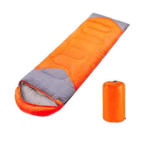 YOUMAKO Backpacking Sleeping Bag for Adults & Kids - Lightweight, Waterproof, Comfortable for Spring Summer Fall - Hiking, Traveling, Camping