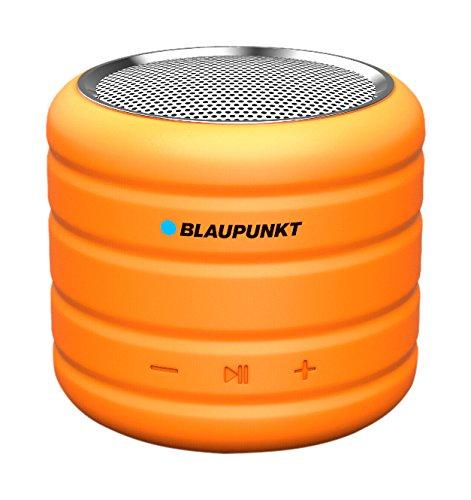 Blaupunkt BT01OR Tragbar Bluetooth Lautsprecher Sprecher, MP3-Player Micro SD (32GB), Radio, Akku 400mAh