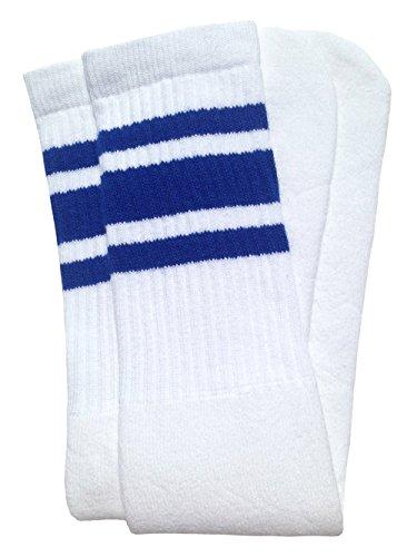 skatersocks 25 Inch Tube Socken retro Kniestrümpfe oldschool Sportsocken weiß blau