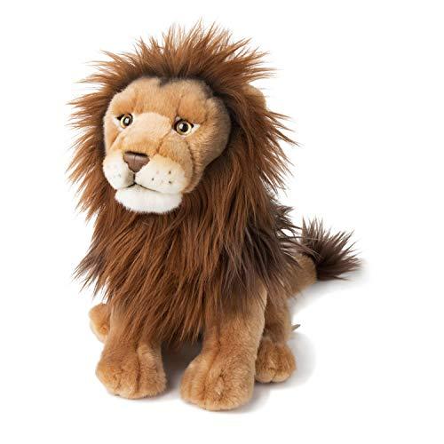 WWF WWF00839 Plüsch Löwe, realistisch gestaltetes Plüschtier, ca. 30 cm groß und wunderbar weich