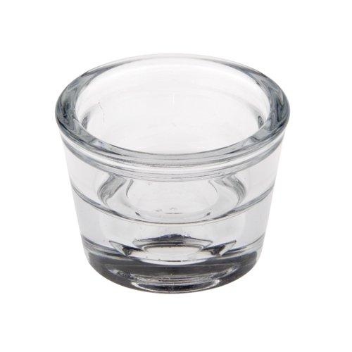 24 Kerzenhalter, Glas rund Ø 60 mm, 45 mm klar
