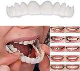 ZLZNX Fausses Dents Dentier Sourire Parfait Haut Et Bas Dentier Esthetique Amovible Instant Smile Comfort Kit Faux Dent Accolades De Simulation