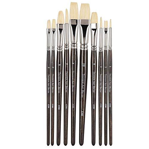 10st olieverfschilderij borstels bruin UV houder gouache aquarel tekenpen art supplies, kunstenaar acryl penseel schilderen kunstenaar professionele kits