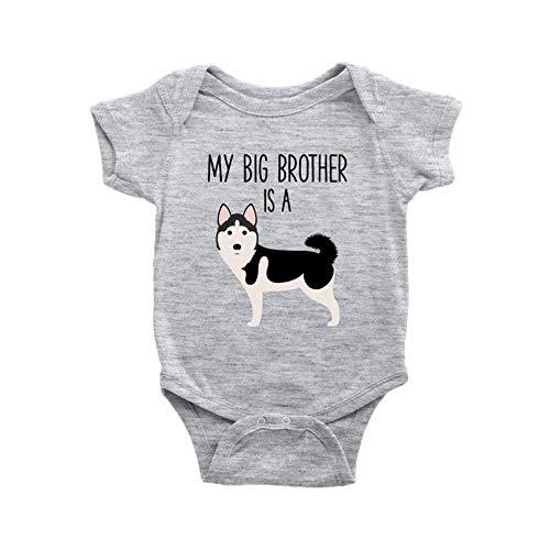 Toll2452 Mameluco siberiano Husky para bebé, amante del perro, camiseta de una pieza