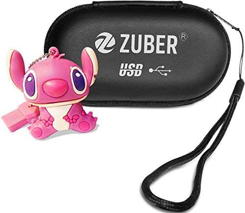 ZUBER® - Memoria USB 2.0 de Alta Velocidad y Amplia compatibilidad, diseño de Dibujos Animados, Color Rosa 8 GB