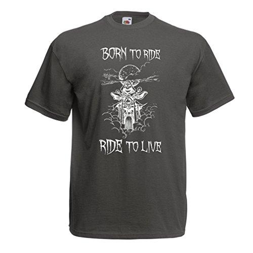 lepni.me Heren T-shirt Geboren naar Ride! Motorkleding