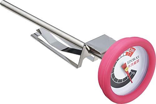 エポラス(Eporasu) プチクック 揚げ物専用温度計 ピンク カバー付き PC-100P