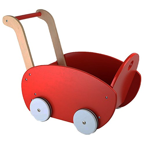 small foot 10025 Puppenwagen, rot