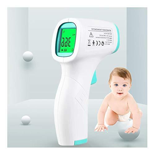 Voorhoofd- en oorthermometer voor kinderen en volwassenen - Infrarood digitale thermometer met LCD-scherm, wit